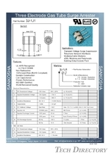 "GDT Gas Discharge Tube Ceramic Arrester 3-electrode Type ""3J""_No.1"