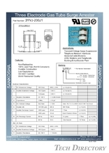 "GDT Gas Discharge Tube Ceramic Arrester 3-electrode Type ""3J""_No.2"