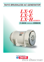 BRUSHLESS AC GENERATOR(ALTERNATOR)【LX SERIES】