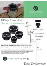 Waterless Trap Seal for Floor Drains 『Green Drain』